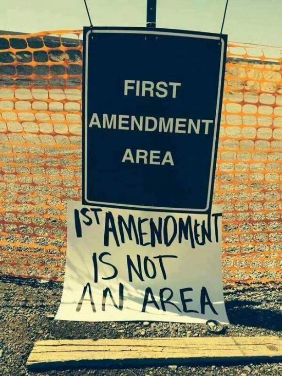 First Amendment is not an Area